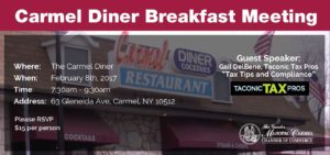 Chamber Breakfast Meeting at the Carmel Diner @ Carmel Diner
