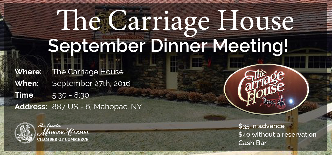 Mahopac Carmel Chamber Dinner Meeting
