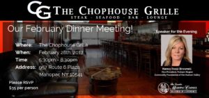 Chamber Dinner Meeting at The Chophouse Grille @ The Chophouse Grille